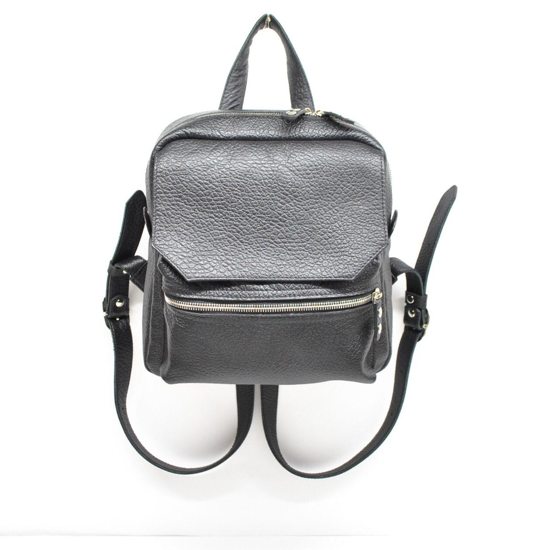 0227c05f3699 Рюкзаки ручной работы. Ярмарка Мастеров - ручная работа. Купить Черный  городской рюкзак из натуральной ...