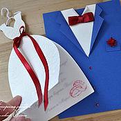 Свадебный салон ручной работы. Ярмарка Мастеров - ручная работа оригинальные приглашения (цвет любой). Handmade.