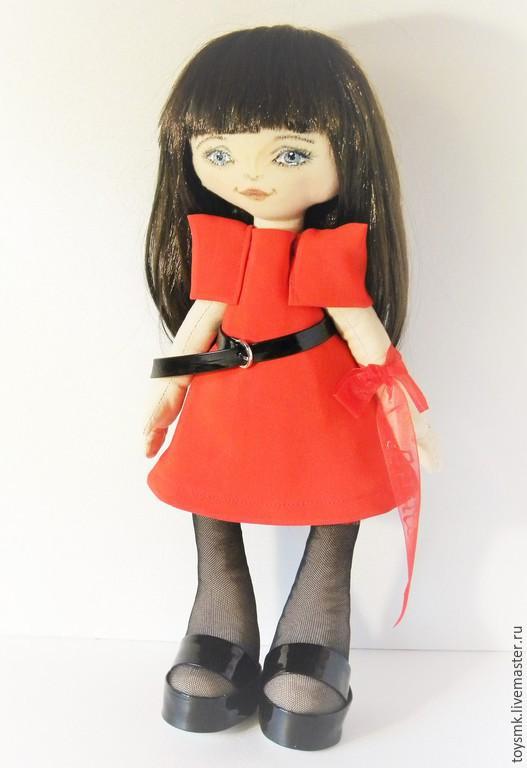 Портретные куклы ручной работы. Ярмарка Мастеров - ручная работа. Купить Кукла по фотографии для Анны. Handmade. Ярко-красный, пряжка
