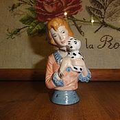 Винтаж ручной работы. Ярмарка Мастеров - ручная работа half doll Дама с собачкой. Handmade.