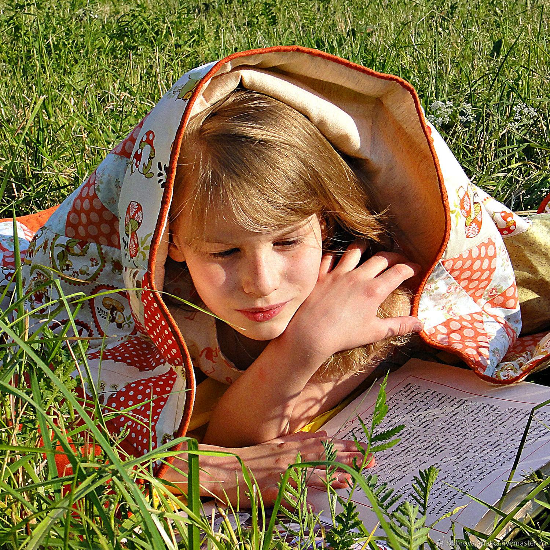 Лоскутное одеяло Детское покрывало пэчворк Грибы Гномы подарок девочке, Пледы, Тверь, Фото №1