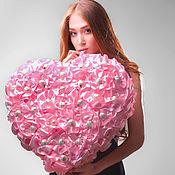 Цветы и флористика ручной работы. Ярмарка Мастеров - ручная работа Сердце из конфет розовое от Alexander Awe. Handmade.