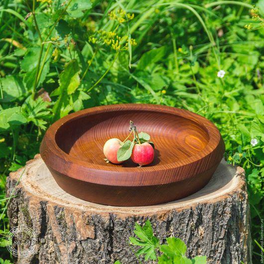 Кухня ручной работы. Ярмарка Мастеров - ручная работа. Купить Тарелка из сибирской сосны 225 мм  Для пищевых продуктов Т28. Handmade.
