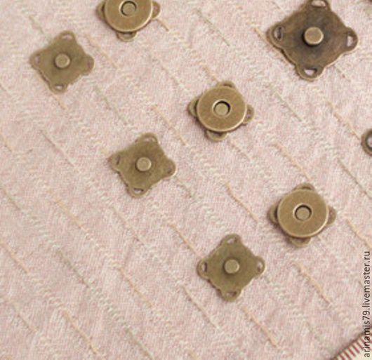 Другие виды рукоделия ручной работы. Ярмарка Мастеров - ручная работа. Купить Магнитная кнопка  1 см. Бронза.. Handmade.