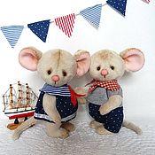 Куклы и игрушки ручной работы. Ярмарка Мастеров - ручная работа Мышки-морячки. Handmade.
