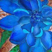 """Аксессуары ручной работы. Ярмарка Мастеров - ручная работа Шарф """"Все оттенки синего"""". Handmade."""