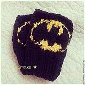 Работы для детей, ручной работы. Ярмарка Мастеров - ручная работа Митенки Бэтмен. Handmade.