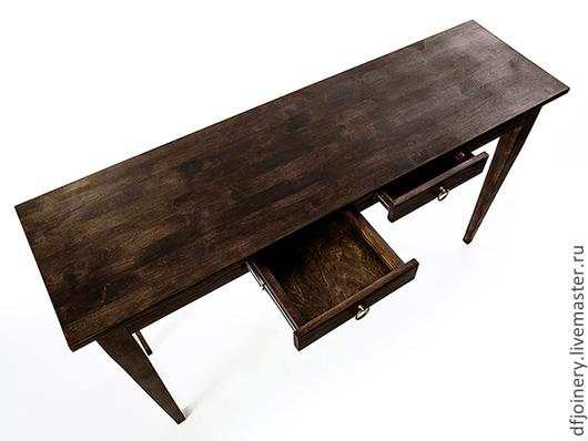 Мебель ручной работы. Ярмарка Мастеров - ручная работа. Купить Письменный стол из дерева. Handmade. Коричневый, массив, купить
