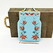 Сумки и аксессуары handmade. Livemaster - original item Vintage handbag with fringe. Handmade.