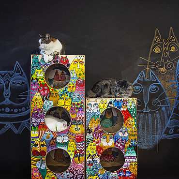 """Товары для питомцев ручной работы. Ярмарка Мастеров - ручная работа """"Котоузоры"""" для души и котиков (дома-когтеточки). Handmade."""