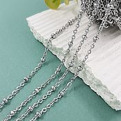 Материалы для творчества handmade. Livemaster - original item 50 cm Steel chain ball 2 mm (5638). Handmade.