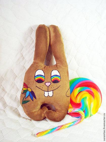 Ароматизированные куклы ручной работы. Ярмарка Мастеров - ручная работа Радужный заяц (чердачная игрушка). Handmade.