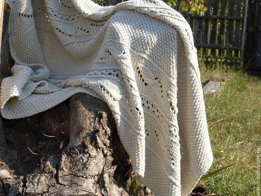Пледы и одеяла ручной работы. Ярмарка Мастеров - ручная работа. Купить Вязаный шелковый плед-одеяло новорожденному ручной работы.. Handmade.