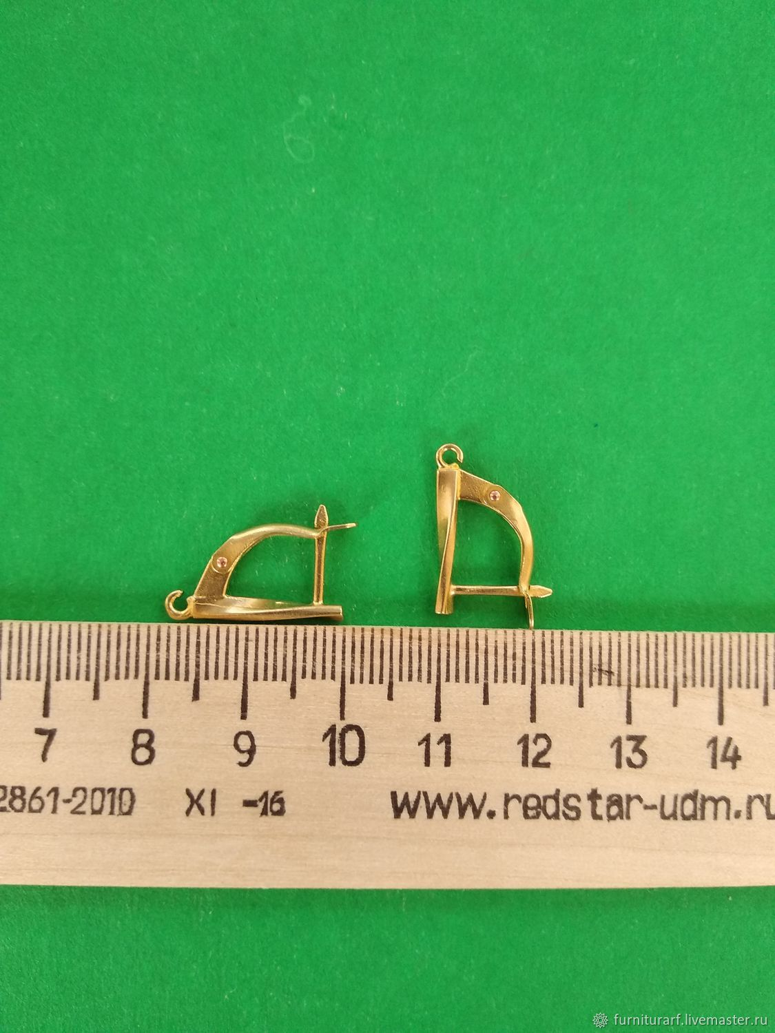 1117 Earrings, brass, casting, Russia – shop online on Livemaster with  shipping - GC8QXCOM | Privolzhsk