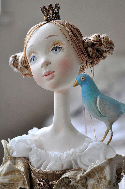 Коллекционные куклы ручной работы. Ярмарка Мастеров - ручная работа. Купить Авторская кукла  Мечты о Синей птице. Handmade. Бежевый