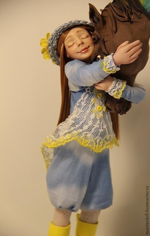 """Коллекционные куклы ручной работы. Ярмарка Мастеров - ручная работа. Купить Авторская Кукла """" Небесная Сивка"""" из полимерной глины. Handmade."""