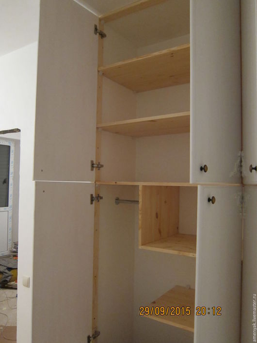 Мебель ручной работы. Ярмарка Мастеров - ручная работа. Купить Встроенный шкаф. Handmade. Белый, краска тикурилла евро 20