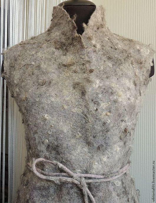 Жилеты ручной работы. Ярмарка Мастеров - ручная работа. Купить Валяный жилет. Handmade. Серый, шерсть 100%, жилет из шерсти