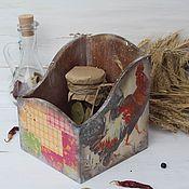 """Для дома и интерьера ручной работы. Ярмарка Мастеров - ручная работа """"Домик в деревне"""" короб-подставка. Handmade."""