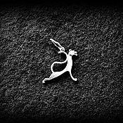 Украшения ручной работы. Ярмарка Мастеров - ручная работа Подвеска Пантера. Серебро 925 пробы.. Handmade.