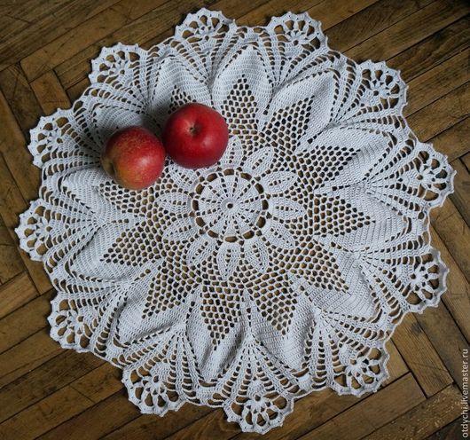 Текстиль, ковры ручной работы. Ярмарка Мастеров - ручная работа. Купить Салфетка ПРАЗДНИЧНАЯ. Handmade. Белый, большая салфетка