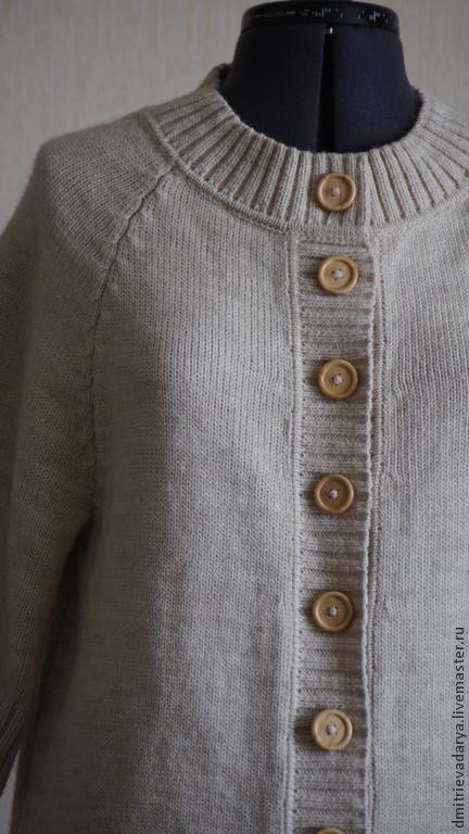 Пиджаки, жакеты ручной работы. Ярмарка Мастеров - ручная работа. Купить кардиган. Handmade. Бежевый, удобный