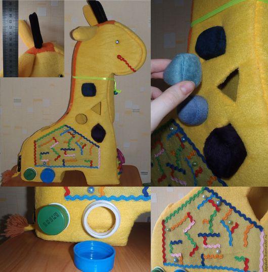 Развивающие игрушки ручной работы. Ярмарка Мастеров - ручная работа. Купить Озорной жираф. Handmade. Развивающая игрушка, развивайка