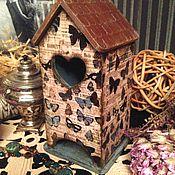Для дома и интерьера ручной работы. Ярмарка Мастеров - ручная работа Чайный домик в порхающих бабочках, декупаж. Handmade.