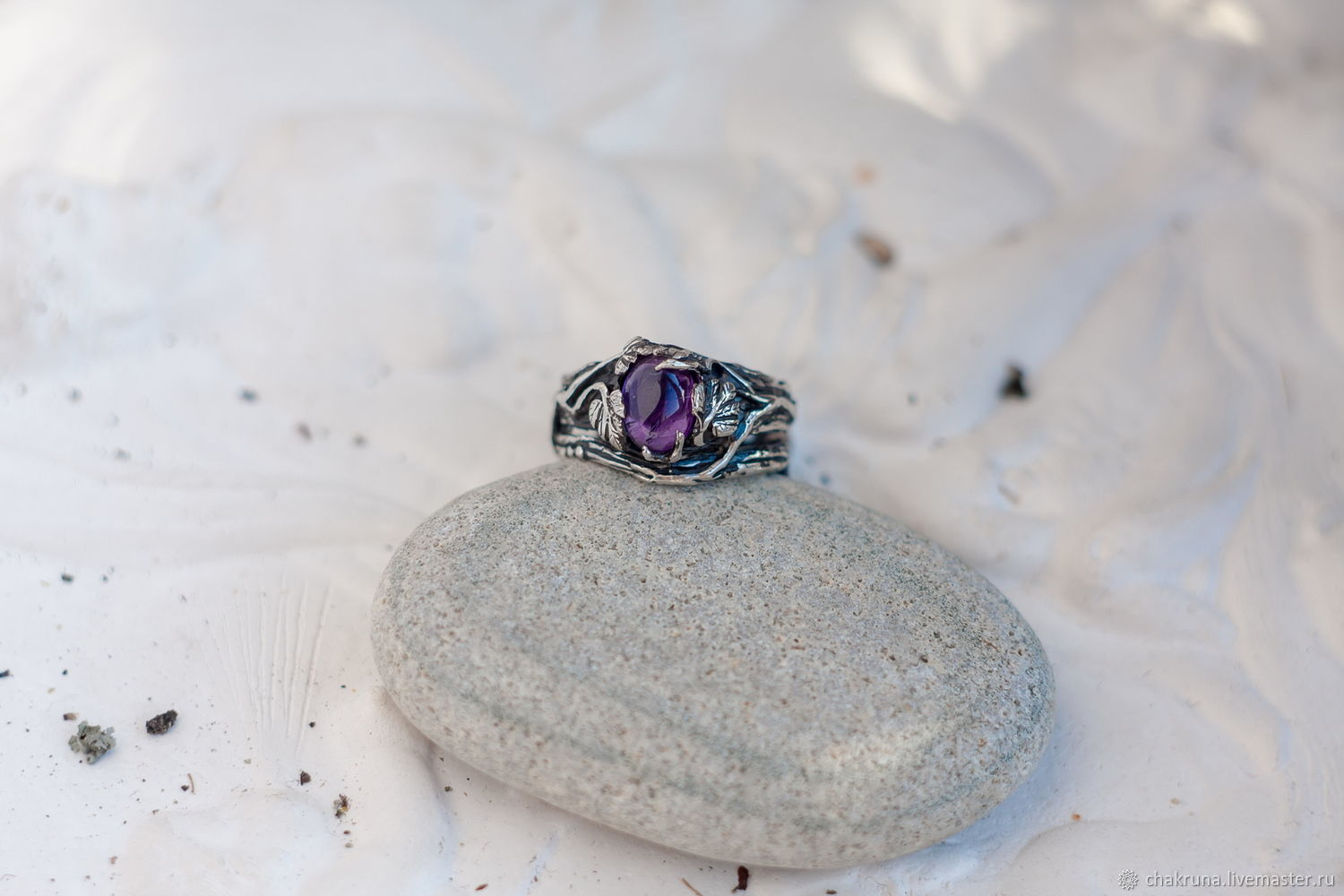 Silver ring 'NICOLE' with amethyst, Rings, Moscow,  Фото №1