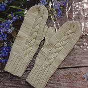 Аксессуары handmade. Livemaster - original item knitted mittens. Handmade.