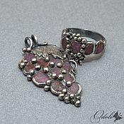 Украшения handmade. Livemaster - original item Pendant and ring with corundum crystals Livia. Handmade.