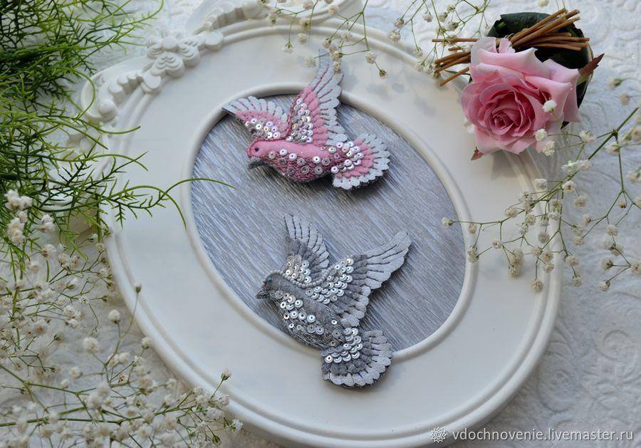 Brooch 'Dove', 2 colors, Brooches, Kolomna,  Фото №1