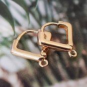 Материалы для творчества handmade. Livemaster - original item Schwenz with lock 13x13x2.5 mm gold plated (4433). Handmade.