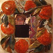 Зеркала ручной работы. Ярмарка Мастеров - ручная работа Апельсиновое зеркало. Handmade.