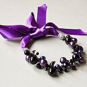 Украшения handmade. Livemaster - original item Purple night necklace. Handmade.