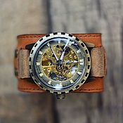 ручной работы. Ярмарка Мастеров - ручная работа Наручныекоричневые механические часы Indiana 2.0 женские мужские. Handmade.