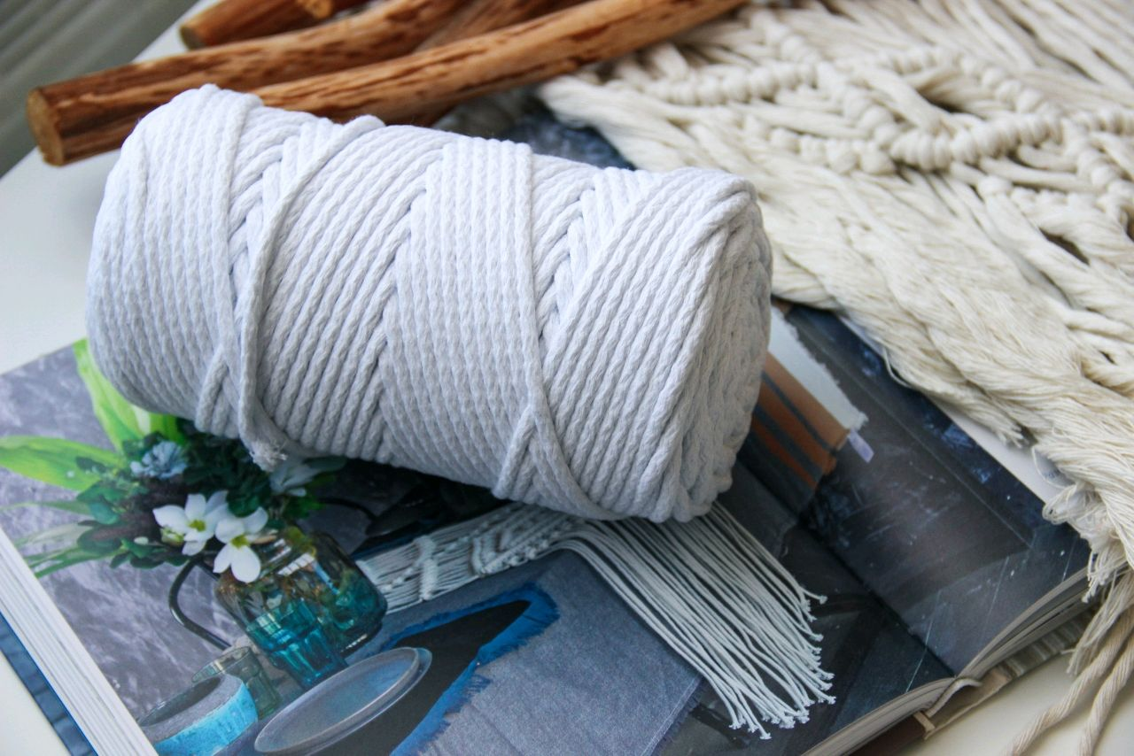 Шнур хлопковый 5мм (белый), Нитки, Москва,  Фото №1
