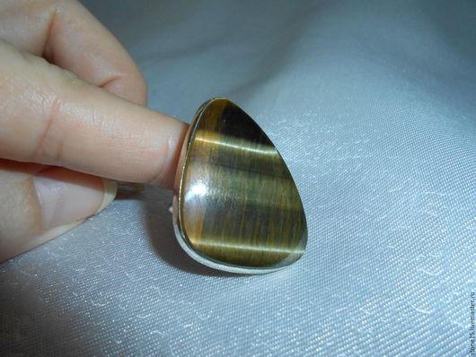 """Кольца ручной работы. Ярмарка Мастеров - ручная работа. Купить Кольцо с соколиным глазом """"Оберег"""". Handmade. Разноцветный, из соколиного глаза"""