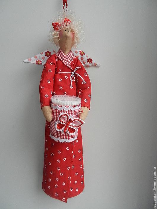 Куклы Тильды ручной работы. Ярмарка Мастеров - ручная работа. Купить Хранительница ватных дисков и палочек - Клара. Handmade.