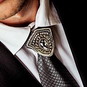 Украшения handmade. Livemaster - original item Men`s brooch Defender. Brooch for men. Embroidered brooch. Handmade.