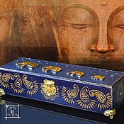 Для дома и интерьера handmade. Livemaster - original item Box blue