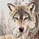 """Вышивка ручной работы. Ярмарка Мастеров - ручная работа. Купить Набор для вышивки бисером """"Взгляд Волка"""". Handmade. Волк"""