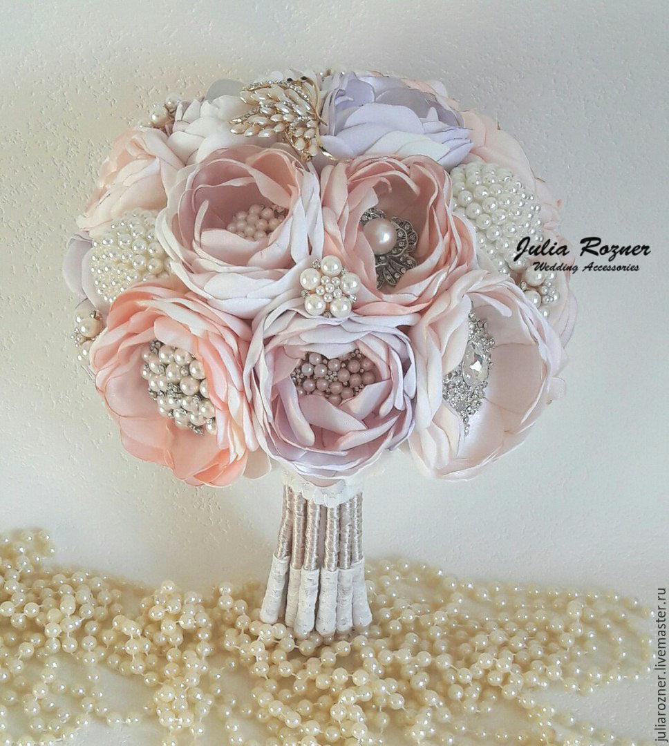 Wedding brooch bouquet 'Lavender', Wedding bouquets, Moscow,  Фото №1