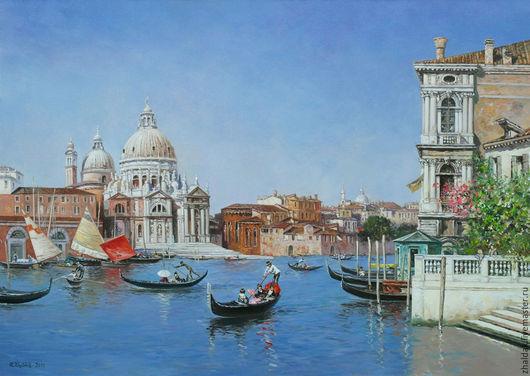 """Пейзаж ручной работы. Ярмарка Мастеров - ручная работа. Купить Картина """"Гранд-канал в Венеции"""". Handmade. Венеция, картина в гостиную"""