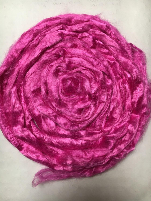 Viscose for felting Pink. 10 gr. Troitsk, Fabric, Berdsk,  Фото №1
