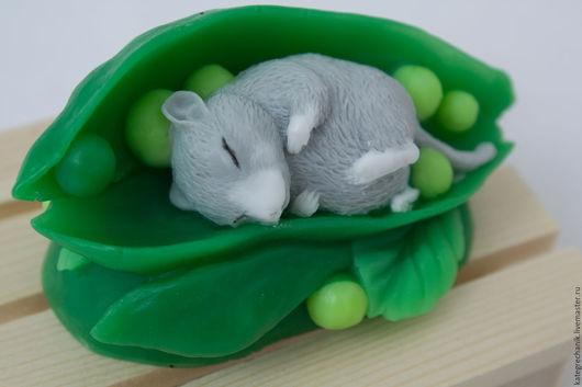 """Мыло ручной работы. Ярмарка Мастеров - ручная работа. Купить Мыло """"Мышка в горошке"""". Handmade. Зеленый, оригинальный подарок"""