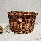 Для дома и интерьера handmade. Livemaster - original item Round basket without handle made of willow vine. Handmade.