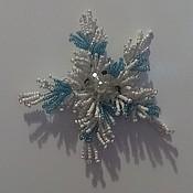 Подарки к праздникам ручной работы. Ярмарка Мастеров - ручная работа магнит-снежинка. Handmade.