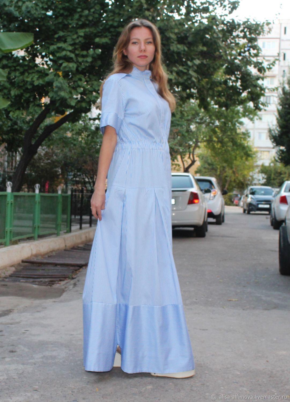 Dresses handmade. Livemaster - handmade. Buy Gorgeous dress, striped.Blue, boho dress, vacation