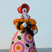Русский стиль ручной работы. Ярмарка Мастеров - ручная работа Дымковская игрушка Барыня с зонтиком. Handmade.